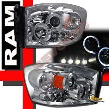 2006-2008 Dodge Ram Pickup Halo LED Projector Headlights RH + LH