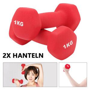 Kurzhanteln 2er Set Gymnastik Hanteln Neopren Fitness Gewichte Aerobic Hantel
