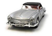 Maquette de Voiture Mercedes Benz 190 Sl Ancienne Argent Auto 1:3 4-39 (Licencé)