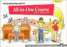Alfred's Basic Piano Library All in One Course Book 1 sheet music apprendre à jouer