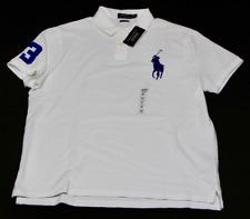 Polo Ralph Lauren Polo Shirt camisa jersey algodón Big pony blanco azul