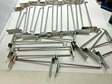 Lot Of 27 Slatwall Hooks Chrome 18 9 7 6 2 4 Used
