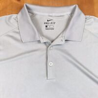 Nike Golf Dri Fit Polo Golf Shirt Size Large Gray Embroidered Everyday Shirt EUC