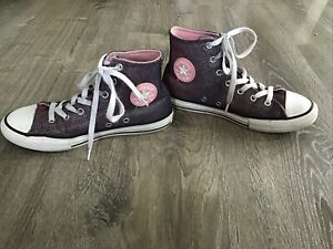 Converse Girl's CT AS Coastal Pink/Silver High Top Shoes (665099F) Size J 3