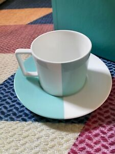 Tiffany Home & Accessories Collection Color Block Tea Cup & Saucer JAPAN LTD F/S