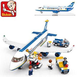 0366 Sluban Blocks DIY Kids Building Educational Toy Puzzle Airbus Airplane