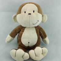 "Kids Preferred Tan brown cream MONKEY 13"" Plush Stuffed Animal Allergy Free Rare"