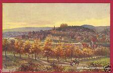 Marburg Lahn Blick von der Schäferbuche Jägerheim Tuck`s Künstler-Karte Reiter