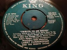 "LARRY CUNNINGHAM & THE MIGHTY AVONS * TRIBUTE TO JIM REEVES *  7"" SINGLE VG 1964"