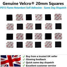 VELCRO® Squares 20mm PS15 Flame Retardant Self Adhesive Hook & Loop Pad FREE P&P