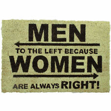 Fun Men to the Left Coir Door Mat Entrance Non slip Women always right House New