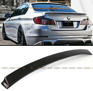FOR 2011-2016 BMW F10 M5 550i Real Carbon Fiber Sport Rear Roof Window Spoiler