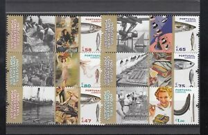"""PORTUGAL  CORREIOS STAMPS + BLOCK STAMPS **MNH """"INDUSTRIA"""" NOMINAL"""