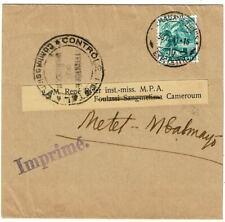 Switzerland 1941 wrapper to CAMEROUN, censored