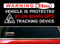 4 x Warning Stickers Car Vehicle Window Protected GPS Tracking Device Security +