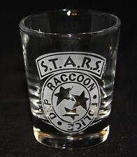 Resident Evil S.T.A.R.S. Raccoon City Police Symbol Custom Etched Shot Glass