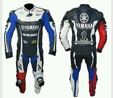 YAMAHA-M1-Motorcycle Racing Leather Suit-MotoGp-CE Approved Protectors