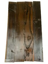 "4 Pack, Ziricote Fingerboard Blanks/ Fretboards/Luthier Woods 21""x3""x3/8"" ;,#125"