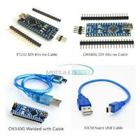 Mini USB Nano V3.0 ATmega328P CH340G/FT232 5V 16M Micro-controller Board Arduino