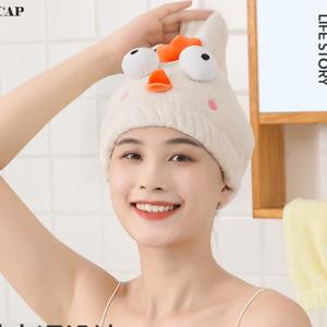 Quick Drying Cap Microfiber Towel Bath Wrap Hat Washcloths Bathroom Accessories
