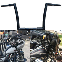 "Black 12"" Rise Bar Apes Hangers Drag Handlebars For Harley Touring Bagger"