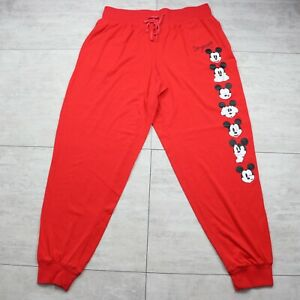 Disney Store Mickey Mouse Be Yourself Women's Red Pajama Lounge Pants Size Large