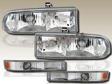 98-04 CHEVY S10/BLAZER HEADLIGHTS CLEAR + Bumper Lamps