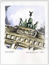 KLAUSEWITZ: ORIGINAL FEDER UND AQUARELL : BERLIN - BRANDENBURGER TOR / 24x32 cm