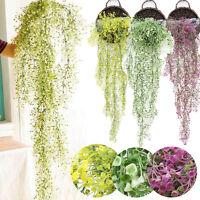 Artificial Fake Silk Flower Vine Hanging Garland Plant Home Wedding Decor