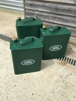 Land Rover oil can/ petrol can storage boxes with removable lid- 3 sizes