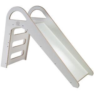 Kinderrutsche Weiß Montessori Holzrutsche für Kinder Rutsche Indoor Outdoor