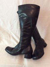 Tamaris Black Knee High Leather Boots Size 37