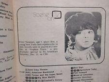 December 22, 1979 TV Times  TELE-VUE  (PETER  NEUMAN/MARIE  OSMOND/ORPHAN  TRAIN