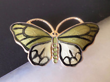 Norway Sterling Stamped, Vermeil, OPRO 127227 Signed, Small Guilloche-Enamel But