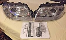 2001-2005 VW Passat LED Halo Projector Headlights Chrome/ Clear SpecD Tuning