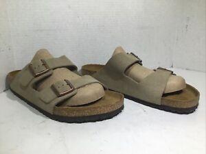 Birkenstock Mens Size 13 EU 46 Arizona Taupe Suede Casual Sandals ZE-988