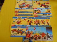 Meccano Erector Junior Manuals Step By Step Design Instructions Lot Of 16