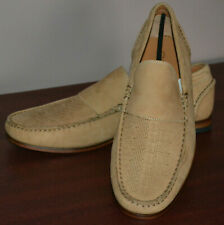 MENS M&S COLLEZIONE LEATHER MOCCASIN STYLE SLIP ON SHOES SIZE 7 MUSHROOM - BNWT