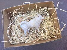 New 3D Dresden American Eskimo Samoyed Dog Paper Christmas Mini Ornament