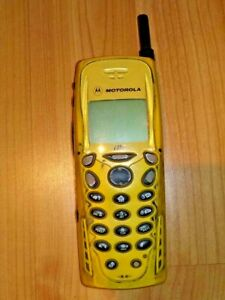 YELLOW MOTOROLA i35s iDEN TOUGH SOLID TELUS MIKE CELL PHONE WALKIE TALKIE SOLID
