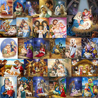 5D DIY Diamond Painting Religious Jesus Cross Stitch Embroidery Mosaic Kit Decor