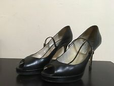 Ladies Jimmy Choo  Open Toe LEATHER Shoes Size 8.5