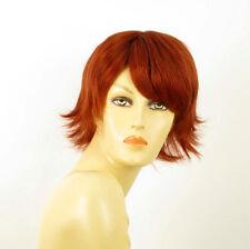 perruque femme 100% cheveux naturel courte cuivré intense ref EMILIE 130