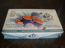 2011-12 SP Authentic Hockey Box---Hobby---Factory Sealed---24 Packs---3 Auto's