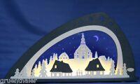 Exclusiver LED 3D-Schwibbogen Weigla Seiffener Kirche Seiffen Erzgebirge Neu