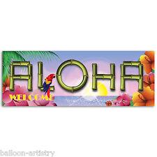 56cm tropicale Tiki PARTY Hawaiano Aloha IN PLASTICA PVC SIGN BANNER Decorazione