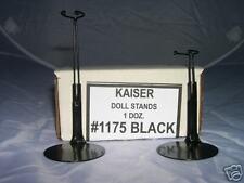 12- MINI  SIZE DOLL STANDS 6 - 7 inch  - BLACK #1175