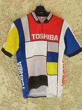 Maillot cycliste TOSHIBA 1988 vintage camiseta shirt trikot MADIOT LOUVIOT XL