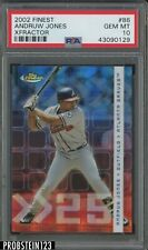 2002 Finest #86 Xfractor Andruw Jones Atlanta Braves /299 PSA 10 GEM MT POP 1