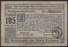 [20264] - GOLD-NOTGELD EINBECK, Sparkasse, 105 Pfennig Reichs-Goldanleihe, 10.11